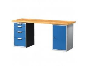 Pracovní stůl s kont. a zásuvkovou skříňkou 2000 mm