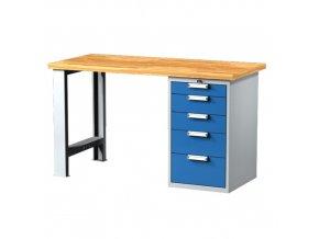 Pracovní stůl se zásuvkovou skříňkou 1500 mm