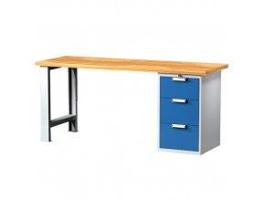 Pracovní stůl se zásuvkovou skříňkou 2000 mm