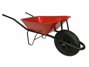 1809 stavebni kolecko 60l s nafukovaci pneumatikou ks40 cervena korba