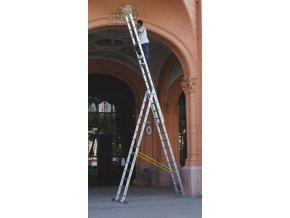 Víceúčelový žebřík 3-dílný Profi 3x13 st.