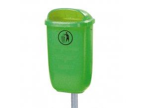 Plastový koš - světle zelený - 50 l.