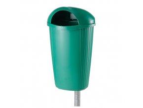 Plastový odpadkový koš 50 l. - světle zelený