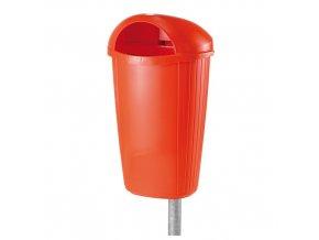 Plastový odpadkový koš 50 l. - oranžový