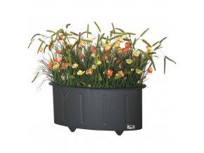 Ocelový venkovní květináč OVAL