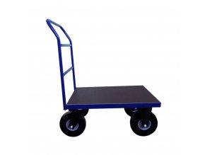 388 plosinovy vozik 800x600 s vodorovnymi prickami 400 kg pryzova kola