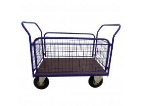 430 plosinovy vozik 1100x700 se siti a bocnicemi 500 kg nafukovaci kola