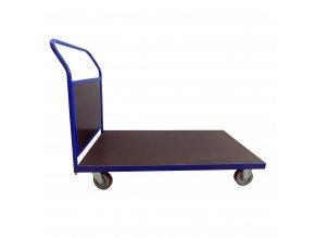409 plosinovy vozik 1200x700 s bocni deskou 500 kg pryzova kola