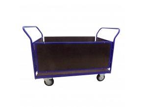 427 plosinovy vozik 1200x800 s bocnimi deskami a bocnicemi 500 kg pryzova kola