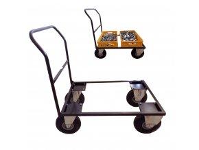 436 plosinovy vozik 900x570 pro 2 prepravky 150 kg nafukovaci kola
