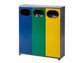 HTI Interiérový koš na tříděný odpad - trojkoš