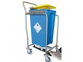 Vozík na nádoby na medicínsky odpad