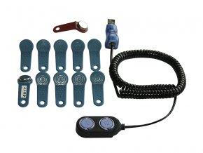 Sada 10 uživ. klíčů, MASTER klíč a čtečka do PC (od 11/09)