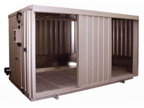 Ocelový kontejner pro chemikálie s pos. dveřmi, typ SRC 3.3W ST