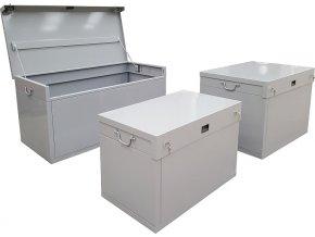 Ocelový box na nářadí, zamykatelný, 500 l (110x80x80 cm)