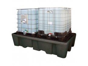 Záchytná vana na 2 IBC kontejnery