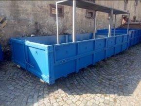 Velkoobjemový kontejner AVIA sklopné bočnice 11 m3