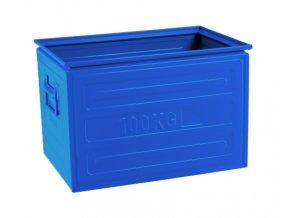 Ukládací bedna rovná (200x400x200 mm) - modrá