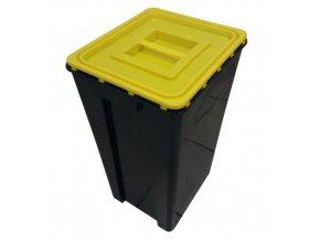 Nádoba na mediciální odpad 60 l. UN černá žluté víko
