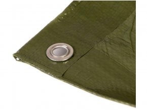 plachta 10x12 m zesílená nepromokavá s oky zelená 100g/m2