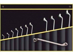 sada klíčů očkových vyhnutých 75st. 12-dílná (6-32)
