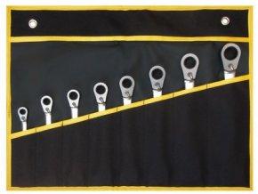sada klíčů ráčnových s možností dorazu 8-dílná v obalu