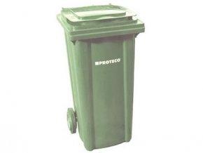 popelnice 240 L plastová zelená s kolečky