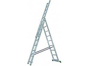 žebřík trojdílný 3x9 s úpravou na schody 250/390/530 cm