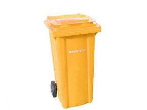 popelnice 240 L plastová žlutá s kolečky