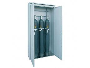 Skříň pro skladování tlakových láhví