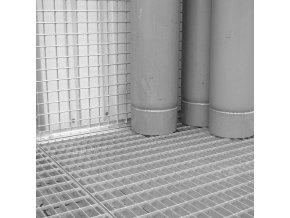 Roštová podlaha pro klece pro skladování tlakových lahví bez