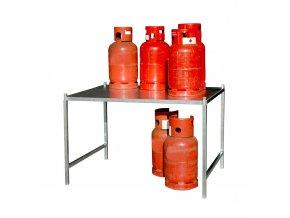 Regál pro klece pro skladování tlakových lahví