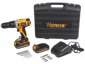 AKU vrtačka s příklepem, 1-13mm, 18V, 45Nm - HTP800105 | Hoteche