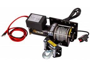 Elektrický lanový naviják 1000 W/12 V, max. zatížení 1361 kg - HT690008