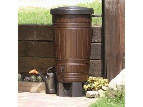 Nádrž na dešťovou vodu Woodcan 265 litrů, hnědá