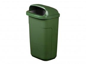 Odpadkový koš CLASSIC 50 l, zhášeč cigaret,zelená