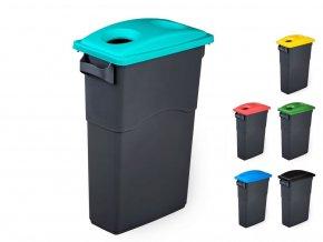 Odpadkový koš na tříděný odpad ECOSORT, 3x85 l