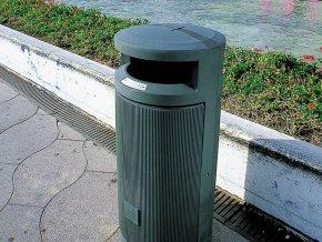 Odpadkový koš PRIMA LINEA 120 l, šedá