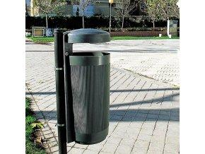 Odpadkový koš Elkoplast Prima linea 50 l, tmavě šedá
