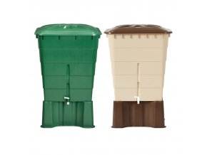 Plastová nádrž na dešťovou vodu RHIN 300-520 l, zelená,520 l