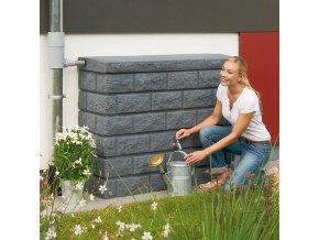 Plastová nádrž na dešťovou vodu ROCHE 400 l - ve třech barvách, cihlová