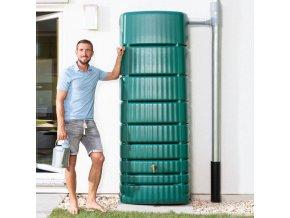 Plastová nádrž na dešťovou vodu SEINE 650 l, zelená