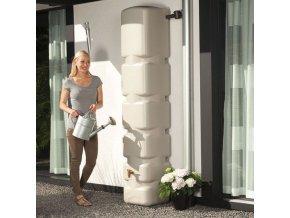 Plastová nádrž na dešťovou vodu SVELTE 300 l, písková