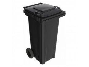 Plastová popelnice ELKOPLAST 120 l, černá C