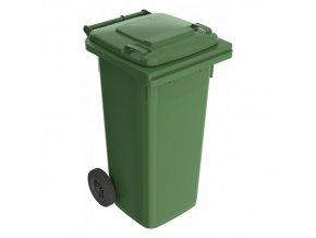 Plastová popelnice 120 l, zelená K