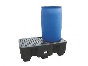Záchytná vana pod dva 200 l sudy (záchytný objem 250 l), na 2 sudy