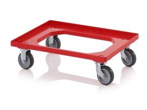 Vozík na Euro přepravky s gumovými kolečky (2 řiditelné, 2 pevné)