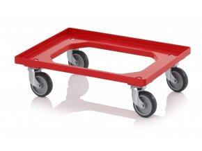 Vozík na Euro přepravky s gumovými kolečky (4 řiditelné)