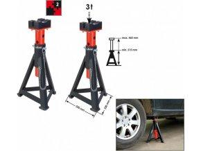 Podpěrné kozlíky 3 t (pár), výška: max. 505 mm/min. 295 mm, cena za pár VIGOR V2477 | Vigor