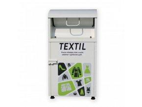 Kontejner na textil objem 1,8 až 2,5 m3 bíla